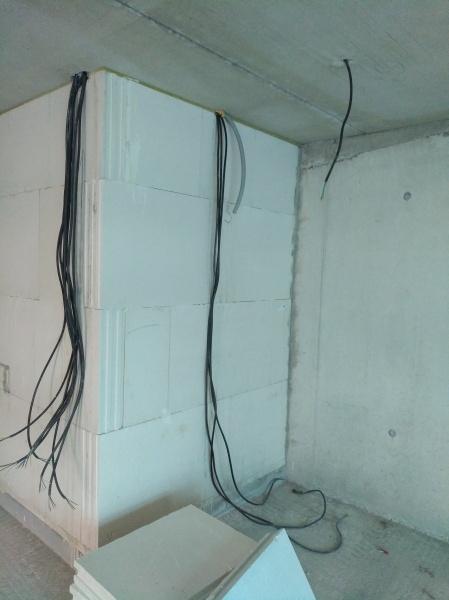 Wand zum WC
