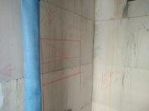 Vorgesehene Nische in der Vormauerung (die noch nicht steht)